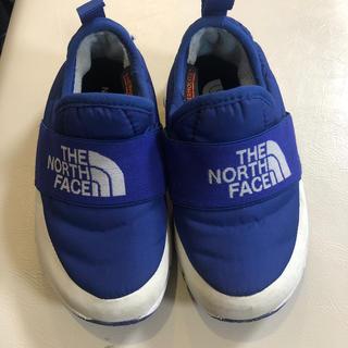 ザノースフェイス(THE NORTH FACE)のノースフェイス美品ヌプシあったかい靴17センチ青(スニーカー)
