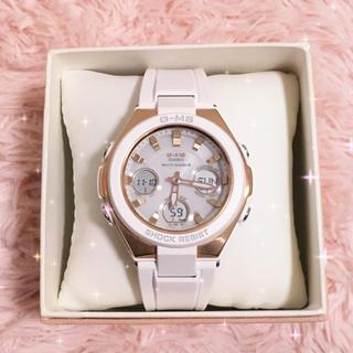 ベビージー(Baby-G)の[カシオ] 腕時計 ベビージー G-MS 電波ソーラー レディース ホワイト(腕時計(デジタル))