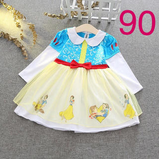 白雪姫 ディズニー プリンセス コスチューム なりきり ワンピース ドレス 90(ワンピース)