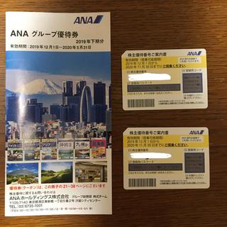 エーエヌエー(ゼンニッポンクウユ)(ANA(全日本空輸))のANA株主優待券-2枚セット(その他)