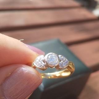 エステルドバルローズ(ESTELLE DE VALROSE)の美品✨ESTELLE18金ダイヤモンドリング(リング(指輪))