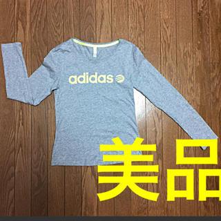 アディダス(adidas)の【美品】アディダス ネオ ロゴ蛍光色 長袖 Tシャツ(Tシャツ(長袖/七分))
