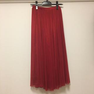 ハニーズ(HONEYS)のロングスカート 赤(ロングスカート)