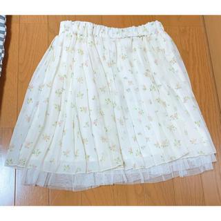 ハニーズ(HONEYS)の☆Honeys 花柄 プリーツスカート☆(ひざ丈スカート)