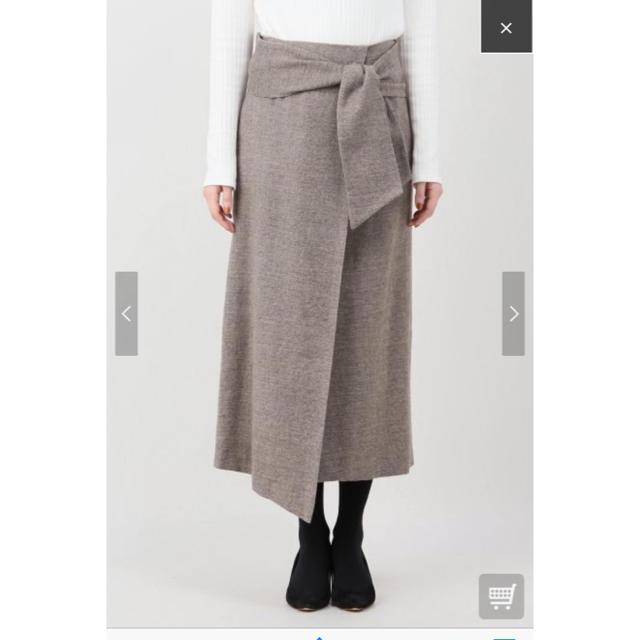 Plage(プラージュ)のPlage ウールカルゼミモレスカートプラージュ レディースのスカート(ひざ丈スカート)の商品写真