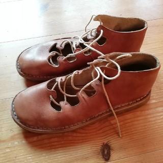 カンペール(CAMPER)のCAMPER  茶色 革靴 レトロ 24.5cm ヨーロッパサイズ39(ローファー/革靴)