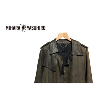 ミハラヤスヒロ(MIHARAYASUHIRO)のMIHARA YASUHIRO レザー トレンチコート / シープスキン(トレンチコート)