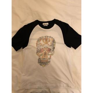 アレキサンダーマックイーン(Alexander McQueen)のALEXANDER MQUEEN スカルTシャツ(Tシャツ/カットソー(半袖/袖なし))