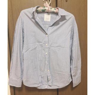 シップス(SHIPS)のほぼ未使用♡SHIPSブルーストライプシャツ(シャツ/ブラウス(長袖/七分))