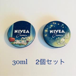 ニベア(ニベア)の☆2019年限定デザイン☆30ml×2個セット NIVEAニベアクリーム 青缶(ボディクリーム)