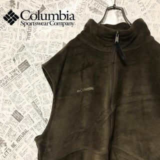 コロンビア(Columbia)の90s コロンビア Columbia フリースベスト カーキ XL(ベスト)