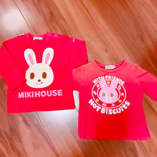 mikihouse - MIKIHOUSE  ロンティー 2着セット
