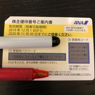 エーエヌエー(ゼンニッポンクウユ)(ANA(全日本空輸))のANA株主優待券 2019/12/01〜2020/11/30(航空券)