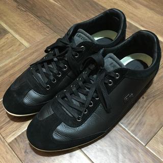 LACOSTE - ラコステ スニーカー ブラック 黒 美品 42 26.5 ラルフ トミー