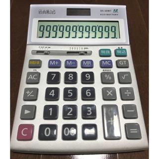 CASIO - カシオ本格実務電卓DS-20WTCASIO電子計算機JS-20M消費税計算初代モ