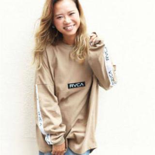 ルーカ(RVCA)のルーカ♡テープロゴロングスリーブTシャツ(Tシャツ(長袖/七分))
