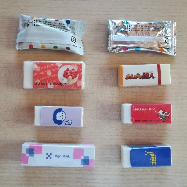 消しゴム 8個セット インテリア/住まい/日用品の文房具(消しゴム/修正テープ)の商品写真