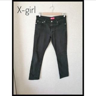 エックスガール(X-girl)のX-girl ブラックレギンス サイズ2(デニム/ジーンズ)