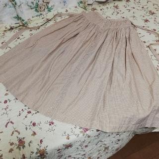 ピンクハウス(PINK HOUSE)のピンクハウス ギンガムチェックのスカート(ロングスカート)
