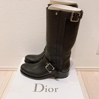 ディオール(Dior)の美品 Dior 革ブーツ(ブーツ)
