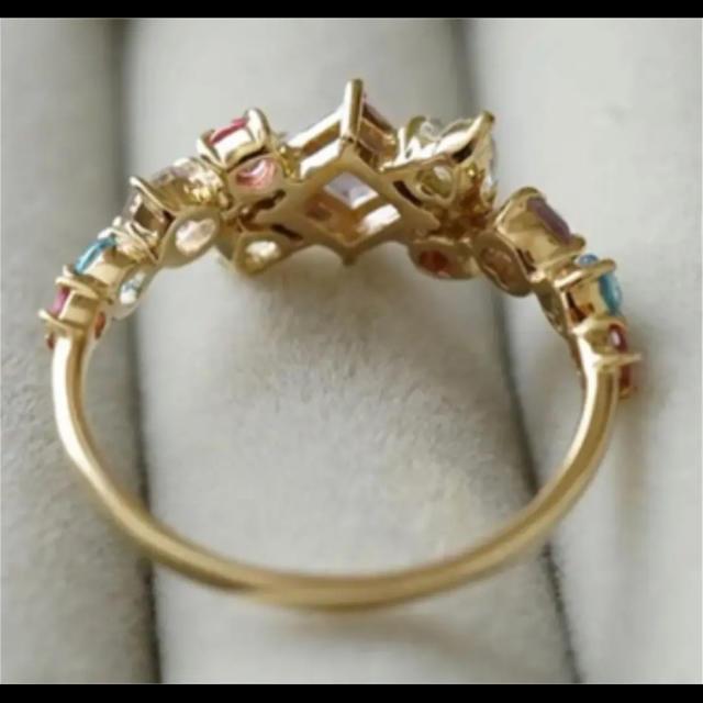 agete(アガット)のk10  マルチストーン リング レディースのアクセサリー(リング(指輪))の商品写真