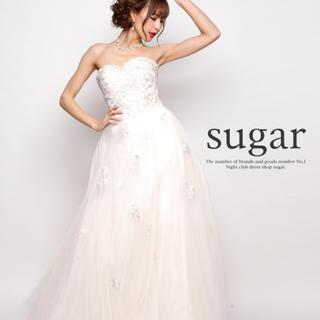 エンジェルアール(AngelR)のLip line/リップライン ホワイト ドレス sサイズ(ロングドレス)