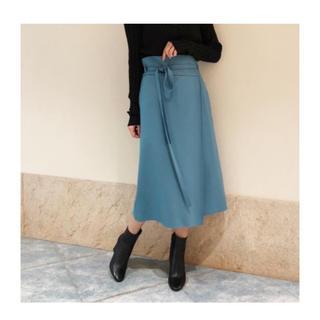 プラージュ(Plage)のplage プラージュ COMPRESSIONラップスカート ブルー(ひざ丈スカート)