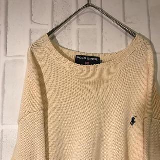 ポロスポーツ セーター ワンポイントロゴ  可愛い キレイめ(ニット/セーター)