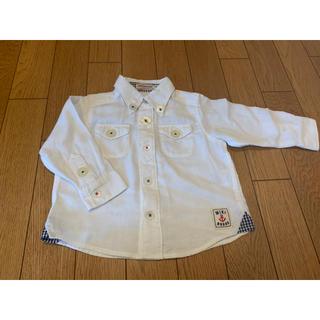 ミキハウス(mikihouse)のミキハウス 長袖 白シャツ 80(シャツ/カットソー)
