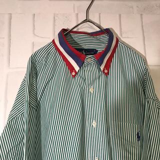 ポロラルフローレン(POLO RALPH LAUREN)のラルフローレン  ビックシャツ トリコロール ワンポイントロゴ(シャツ)