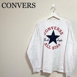 コンバース(CONVERSE)のコンバース オールスター ロンT メンズM 白 ビッグロゴ デカロゴ 90s(Tシャツ/カットソー(七分/長袖))