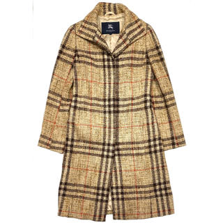 バーバリー(BURBERRY)のBURBERRY LONDON☆ コート ノバチェック ウール キャメル(ロングコート)