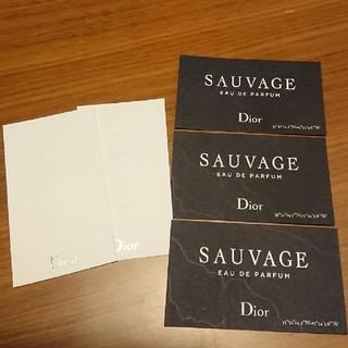 クリスチャンディオール(Christian Dior)のDior ソヴァージュ 香水 ムエット 5枚(香水(男性用))