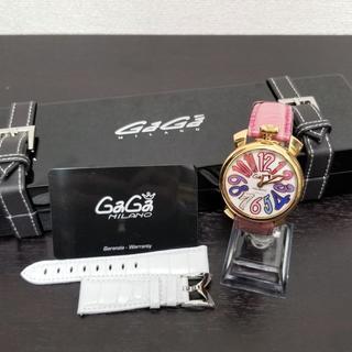 GaGa MILANO - ガガミラノ 腕時計 7ダイヤ☆ 未使用替えベルト付き
