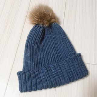 ニコアンド(niko and...)のくすみブルーのニット帽(ニット帽/ビーニー)