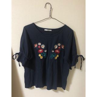 レトロガール(RETRO GIRL)の刺繍 花柄 トップス(シャツ/ブラウス(半袖/袖なし))