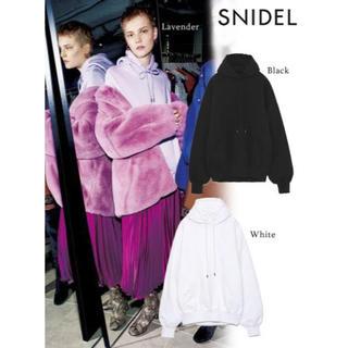 snidel - SNIDEL フードロゴ刺繍パーカー