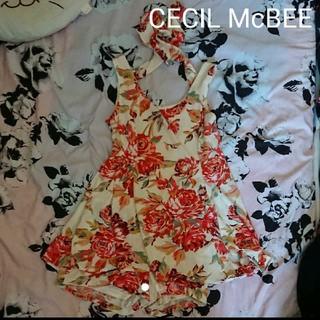 セシルマクビー(CECIL McBEE)のCECIL McBEE花柄オールインワンタンクワンピ☆(オールインワン)