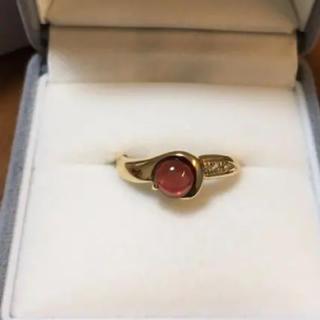 k18 ガーネット ダイヤモンド リング(リング(指輪))