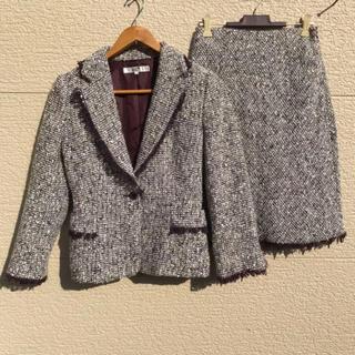 ニジュウサンク(23区)の新品 23区 スーツ ツイード セットアップ ジャケット スカート 34 32(スーツ)