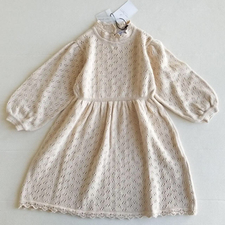 キャラメルベビー&チャイルド(Caramel baby&child )の4Y♥️bebe organic Olivia dress natural(ワンピース)