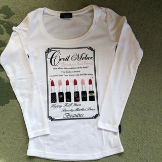 セシルマクビー(CECIL McBEE)のセシルマクビー おしゃれラメトップス(Tシャツ(長袖/七分))