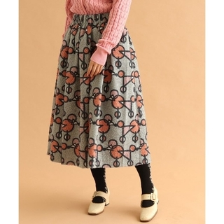 プープレ(peu pres)の美品♪ peupresプードルプリントスカート(ロングスカート)
