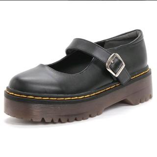 厚底 ストラップシューズ(ローファー/革靴)