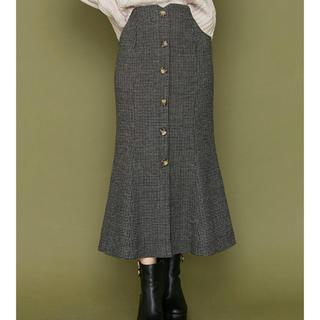 ムルーア(MURUA)のチェックマーメイドスカート(ロングスカート)