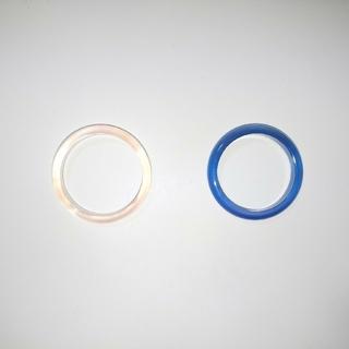 薄ピンク&ブルーのリング二本セット(リング(指輪))