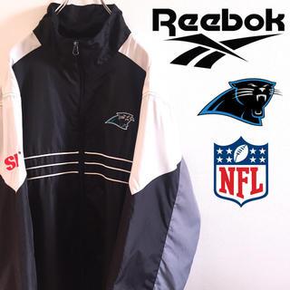 リーボック(Reebok)の古着 NFL リーボック カロライナ・パンサーズ ナイロンジャケット 刺繍(ナイロンジャケット)