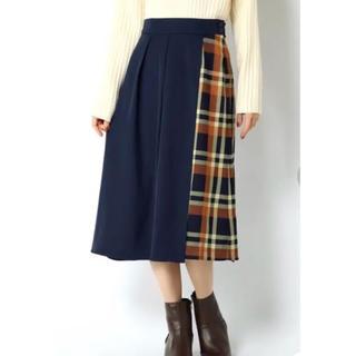 イッカ(ikka)のikka チェック切替スカート(ひざ丈スカート)