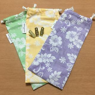 DEAN & DELUCA - DEAN&DELUCA ハワイ 巾着ポーチ 3種