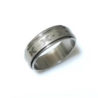 同時購入で300円ステンレス指輪 模様 回転(リング(指輪))